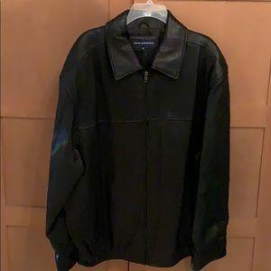 John Ashford Soft Black Leather Jacket